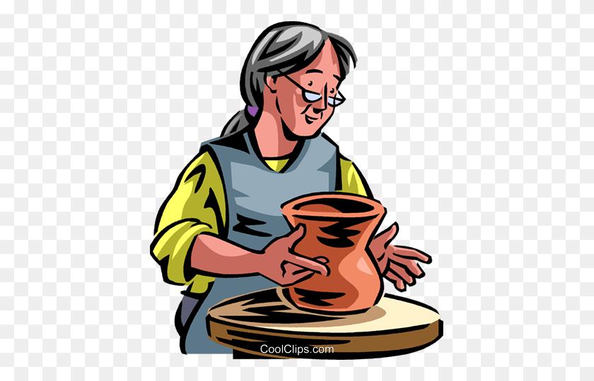 Pottery Royalty Free Vector Clip Art Illustration - Pottery Clipart