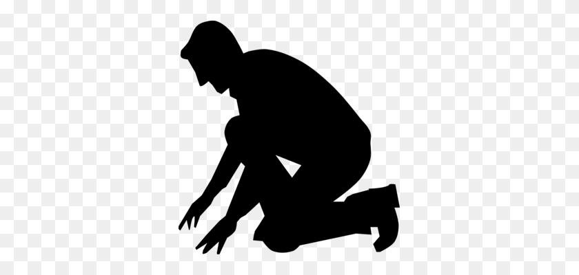 321x340 Praying Hands Prayer Drawing Silhouette Kneeling - Free Clipart Praying Hands Silhouette