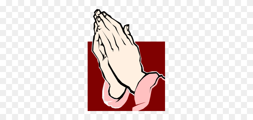 Praying Hands Prayer Drawing Silhouette Religion - Hand In Hand Clipart
