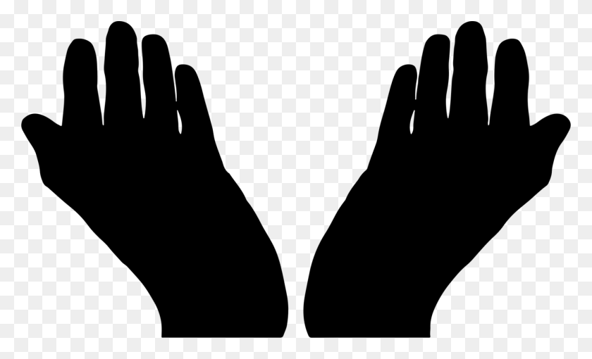 Praying Hands Silhouette Computer Icons Drawing - Praying Hands PNG