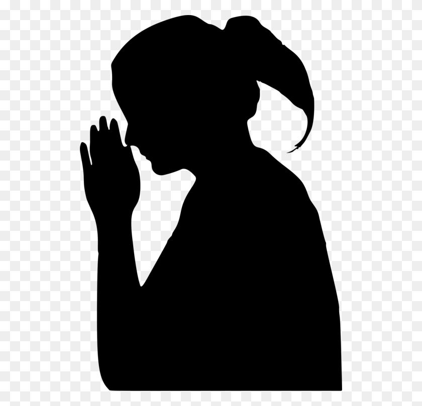 Praying Hands Silhouette Line Art Drawing - Praying Hands Clipart