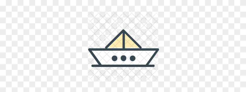 Premium Boat Icon Download Png - Paper Boat PNG