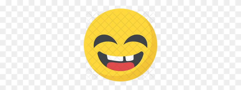 256x256 Premium Laughing Emoji Expression Icon Download Png - Lol Emoji PNG