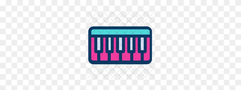 Premium Piano Keyboard Icon Download Png - Piano Keyboard PNG