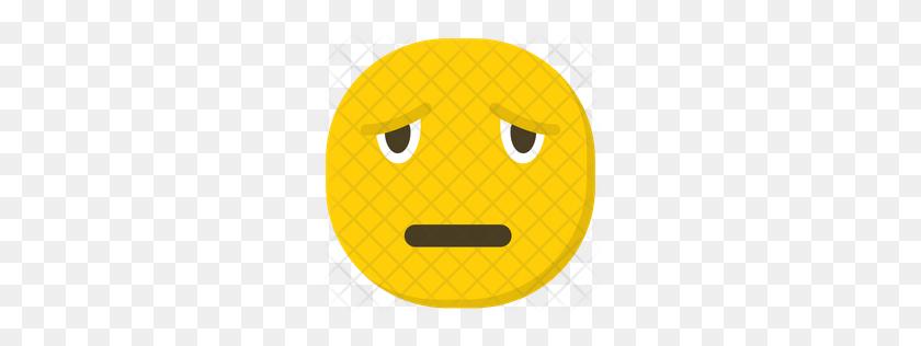 256x256 Premium Sad Emoji Icon Download Png - Meh Emoji PNG