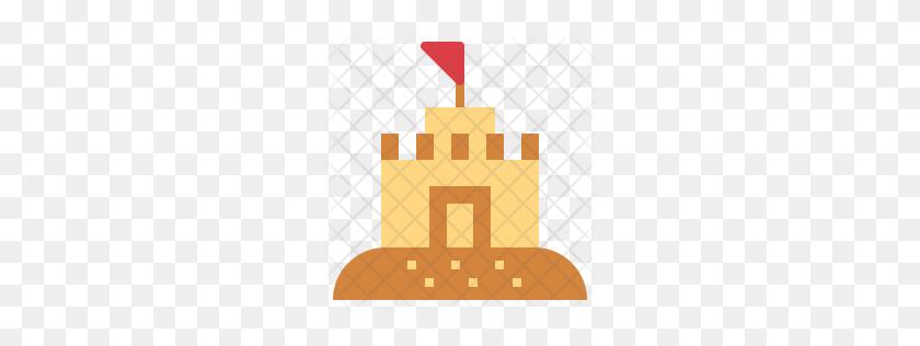 Premium Sand Castle Icon Download Png - Sand Castle PNG