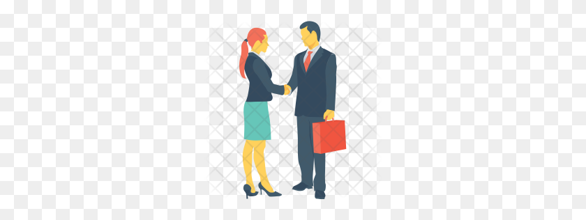 Premium Shake Hand Icon Download Png - Shaking Hands PNG