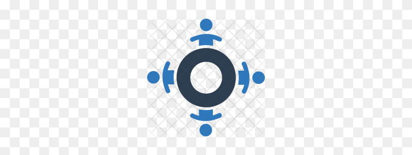 256x256 Premium Team Meeting Icon Download Png - Meeting Icon PNG