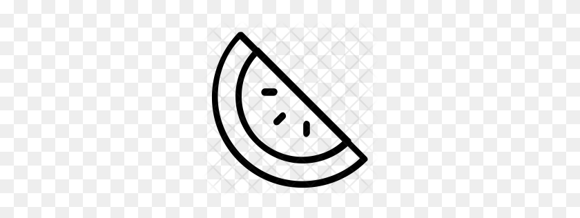 Premium Watermelon Icon Download Png - Watermelon Black And White Clipart