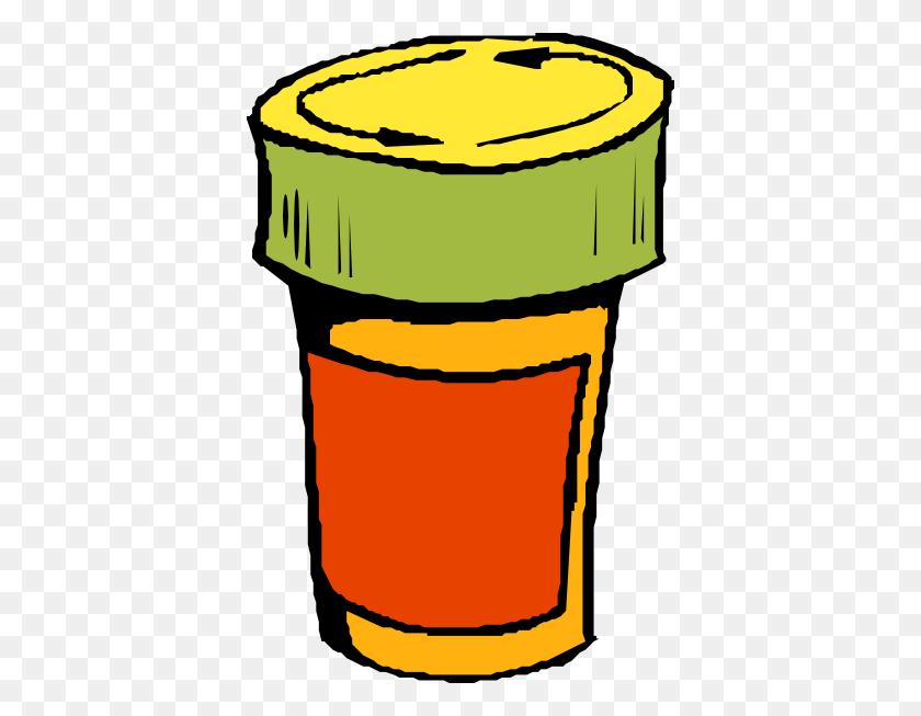 390x593 Prescription Drug Bottle Clip Art Free Vector - Rx Clipart