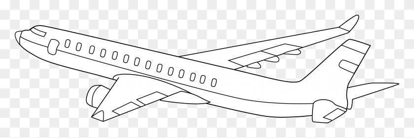 Present Clipart Black And White Airplane - Smores Clipart Black And White