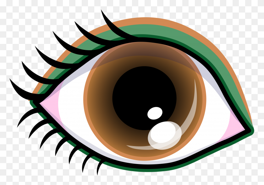 Pretty Brown Eye With Shadow - Pretty Girl Clipart
