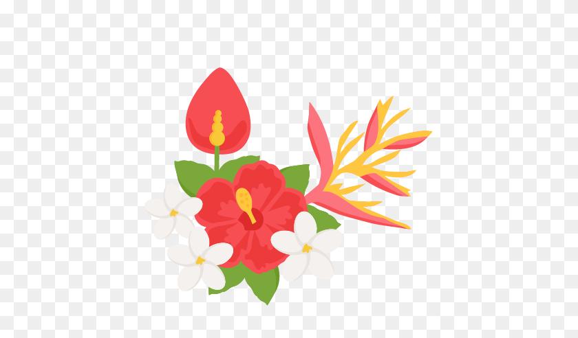 Pretty Tropical Flower Clipart Vector Clip Art Of Arrangement - Cute Flower Clipart