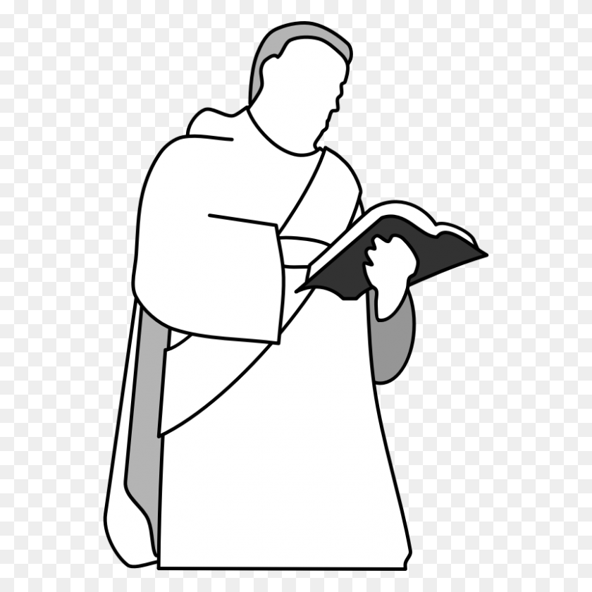 Priest Clipart Black And White - Priest Clipart