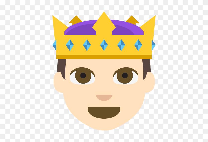 Prince Light Skin Tone Emoji Emoticon Vector Icon Free Download - Skin Clipart