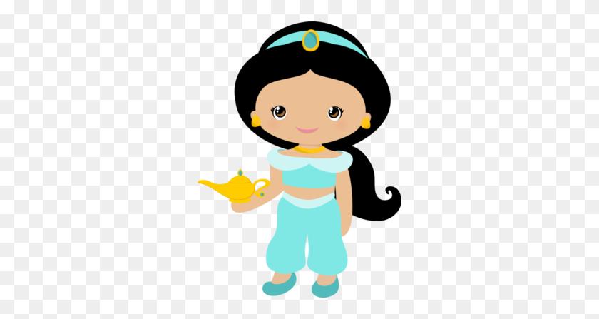 Princesas Disney Cutes - Jasmine Clipart