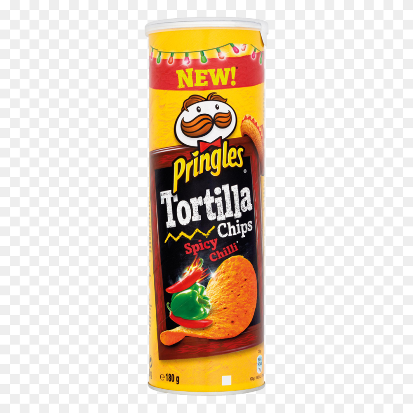 Pringles Tortilla Chips Spicy Chilli - Tortilla PNG