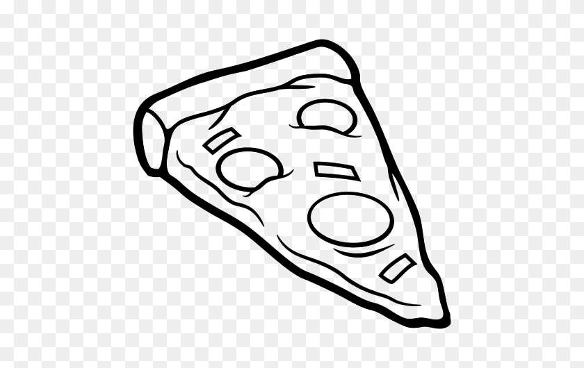 Cheese pizza slice black and white clipart - WikiClipArt