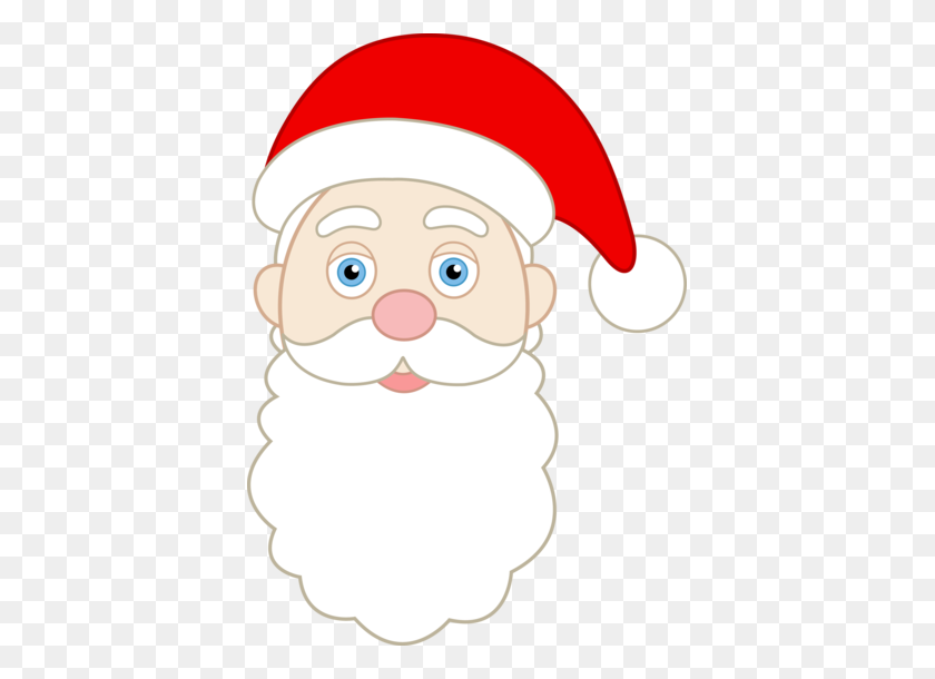 Printable Santa Face Pattern Face Of Santa Claus - Santa Beard Clipart