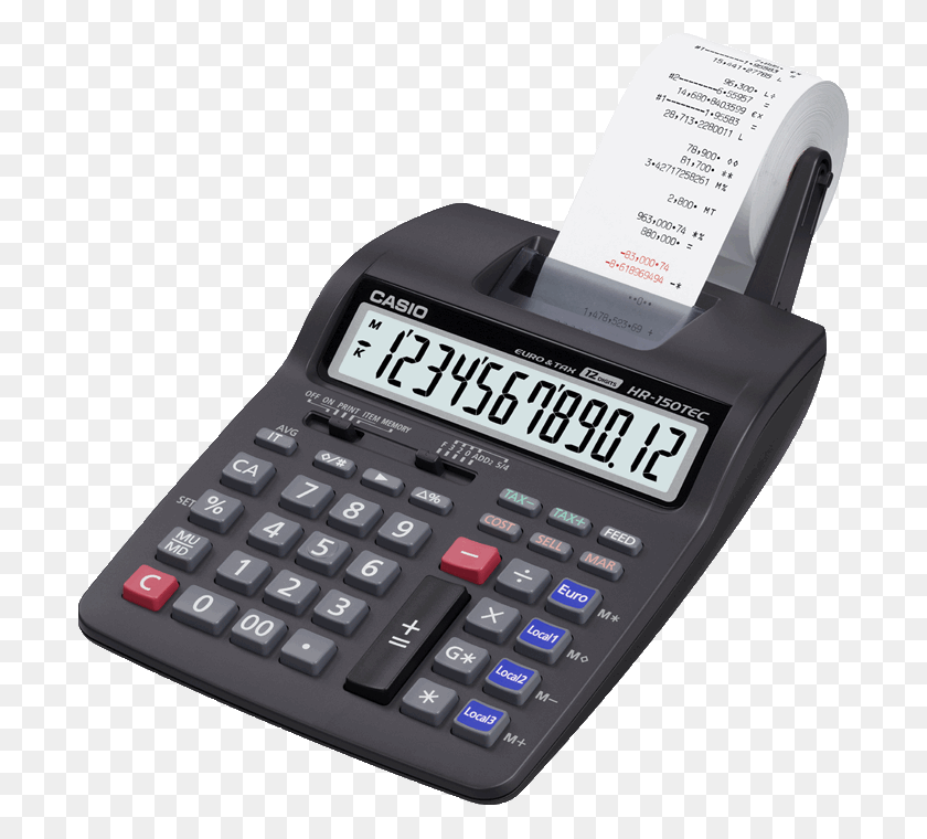 Printing Calculators Calculators Products Casio - Calculator PNG