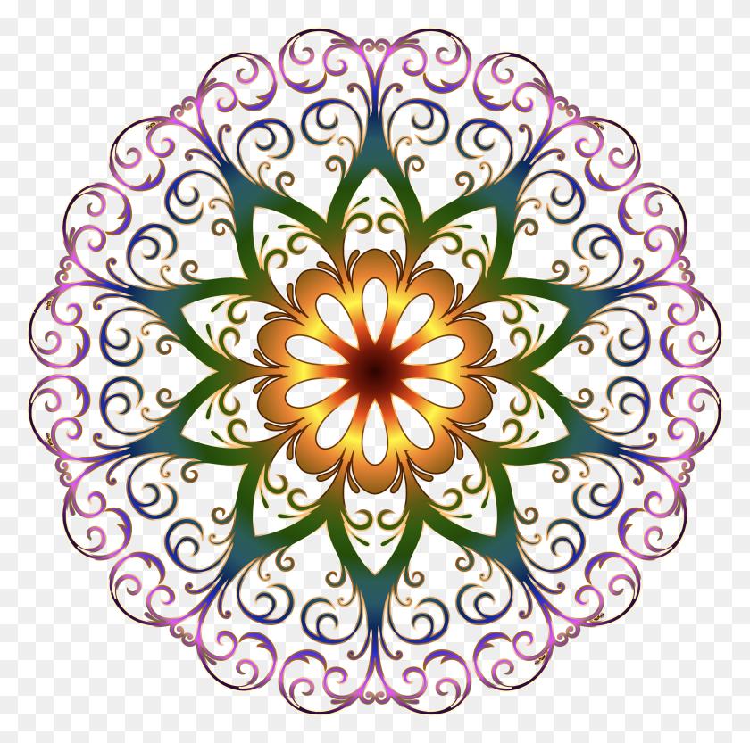Prismatic Flourish Snowflake No Background Icons Png - Snowflake Background PNG