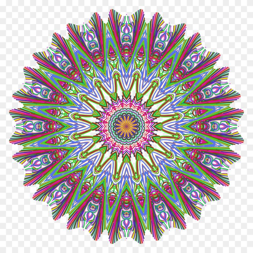 Prismatic Mandala Line Art No Background Icons Png - Mandala Vector PNG