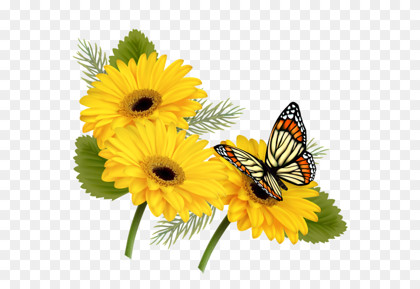 Projects To Try Flowers - Clipart Flowers And Butterflies