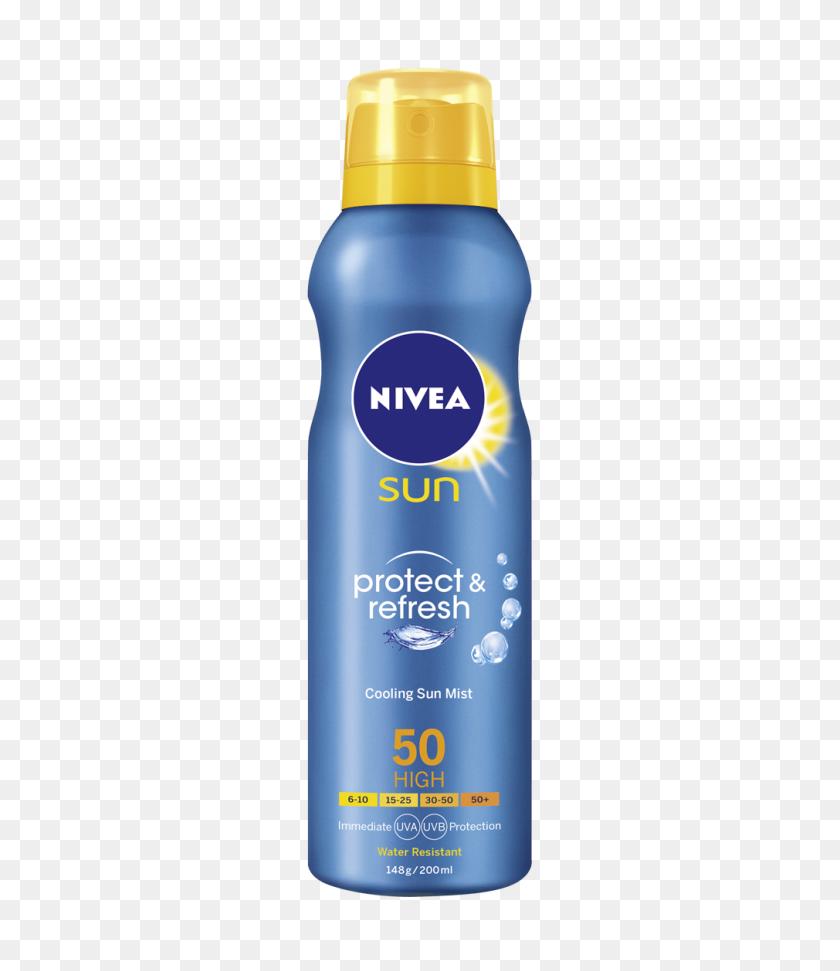 Protect Refresh Cooling Sun Mist Sunblock Nivea Sun - Mist PNG