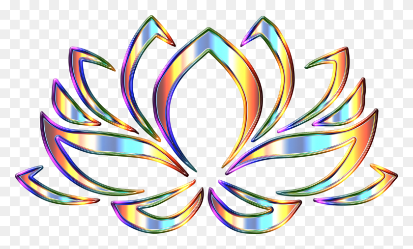 2250x1292 Psychedelic Lotus Flower Enhanced Icons Png - Lotus Flower PNG