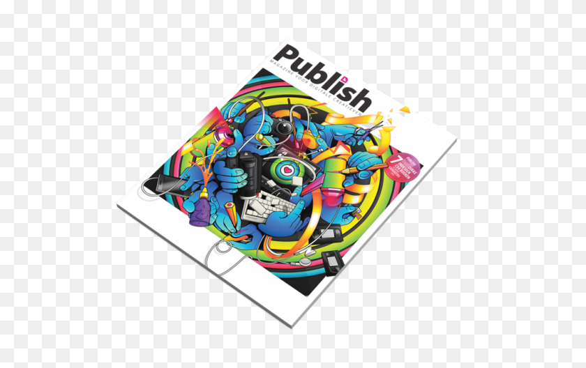 Publish Magazine Cover Tom Bogman Art, Design Illustration - Magazine PNG