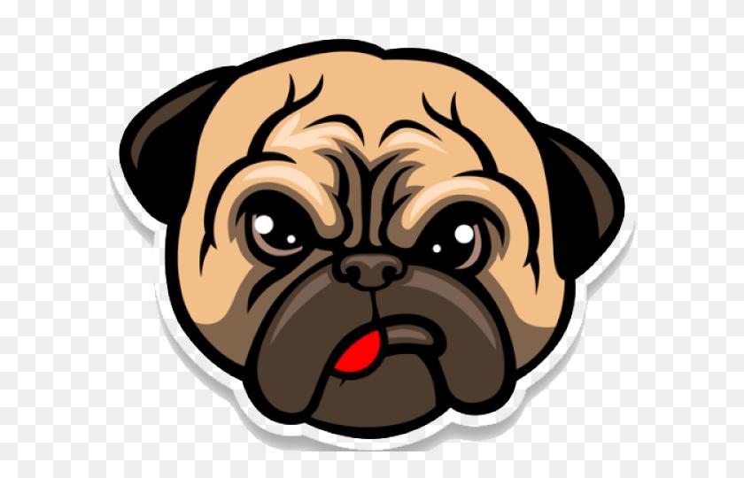 Pug Clipart Transparent Background - Pug Clipart
