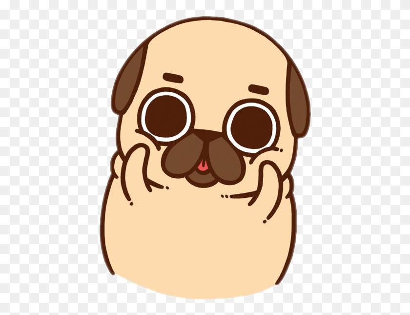 Puglie Pug Puglife Cutedog - Pug Clipart
