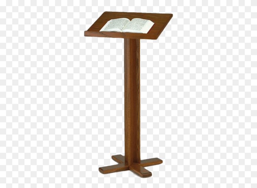 300x555 Pulpit With Open Bible Transparent Png - Open Bible PNG
