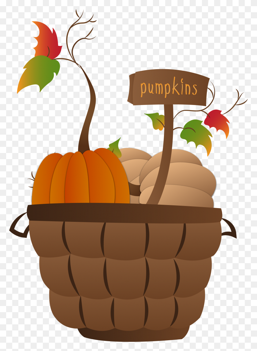 Pumpkin Basket Fall Clipart Thanksgiving, Clip Art, Fall - Welcome Fall Clipart