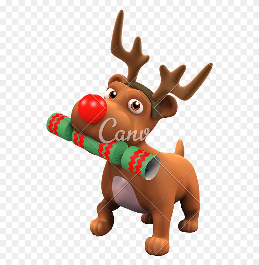 Puppy Dog With Reindeer Antlers - Reindeer Antlers Clipart