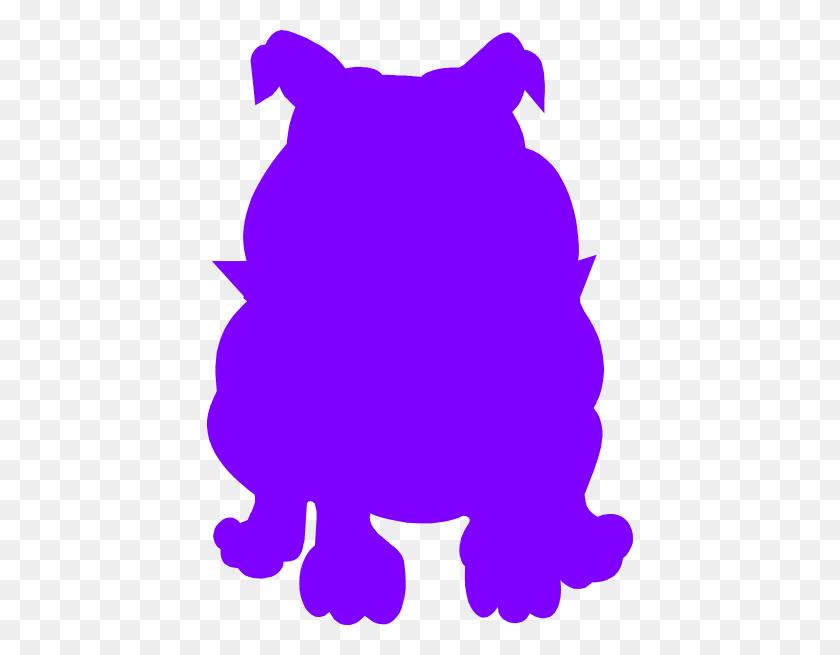 Purple Bulldog Clip Art - Bulldog Clipart