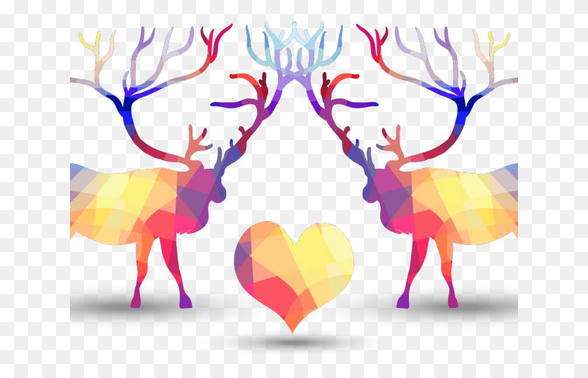 Purple Clipart Reindeer - Reindeer Antlers Clipart