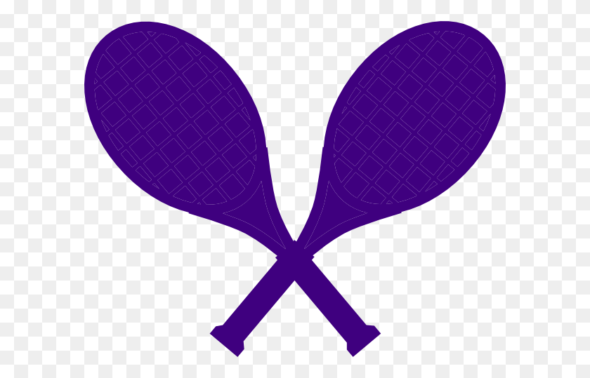 Purple Crossed Tennis Racquets Clip Art - Tennis Racquet Clipart