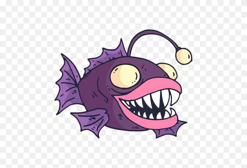 Purple Fish Cartoon - Cartoon Fish PNG