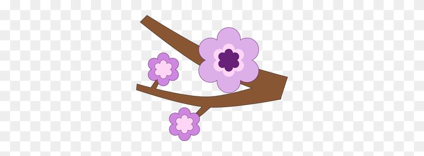 Purple Flower Clip Art Border - Morning Glory Clipart