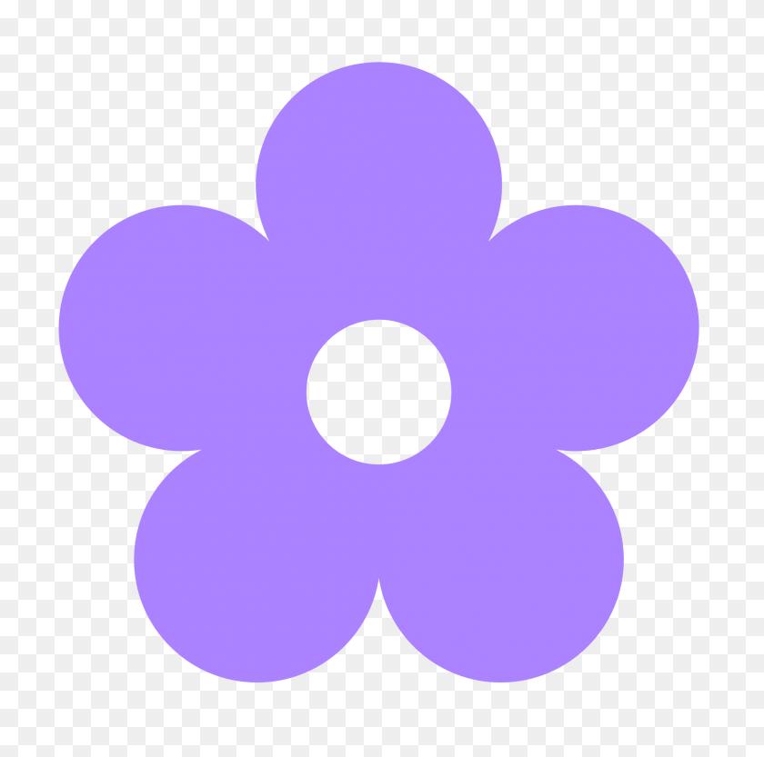 Purple Flower Clipart - Pretty Border Clipart