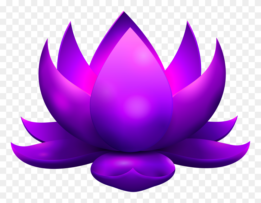 8000x6101 Purple Glowing Lotus Free Png Clip Art Gallery - Lotus Clipart