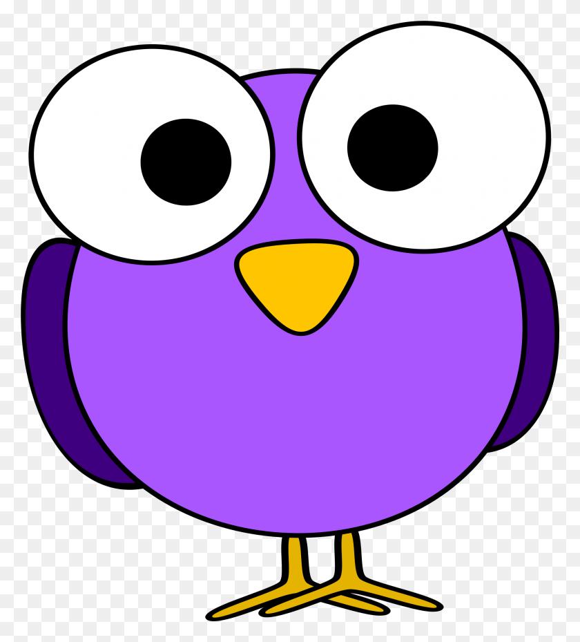 Purple Googly Eye Bird Icons Png - Cartoon Bird PNG