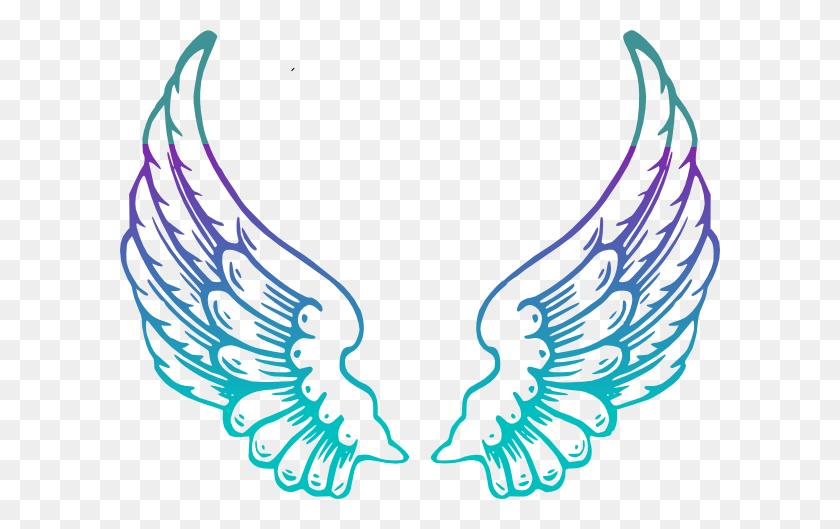 Purple Guardian Angel Wings Clip Art - Free Guardian Angel Clipart