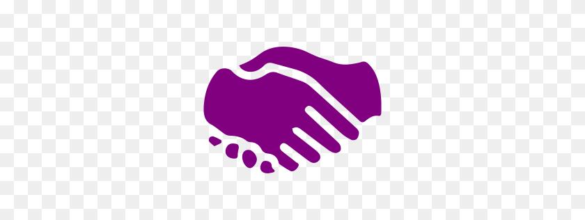 Purple Handshake Icon - Handshake Icon PNG