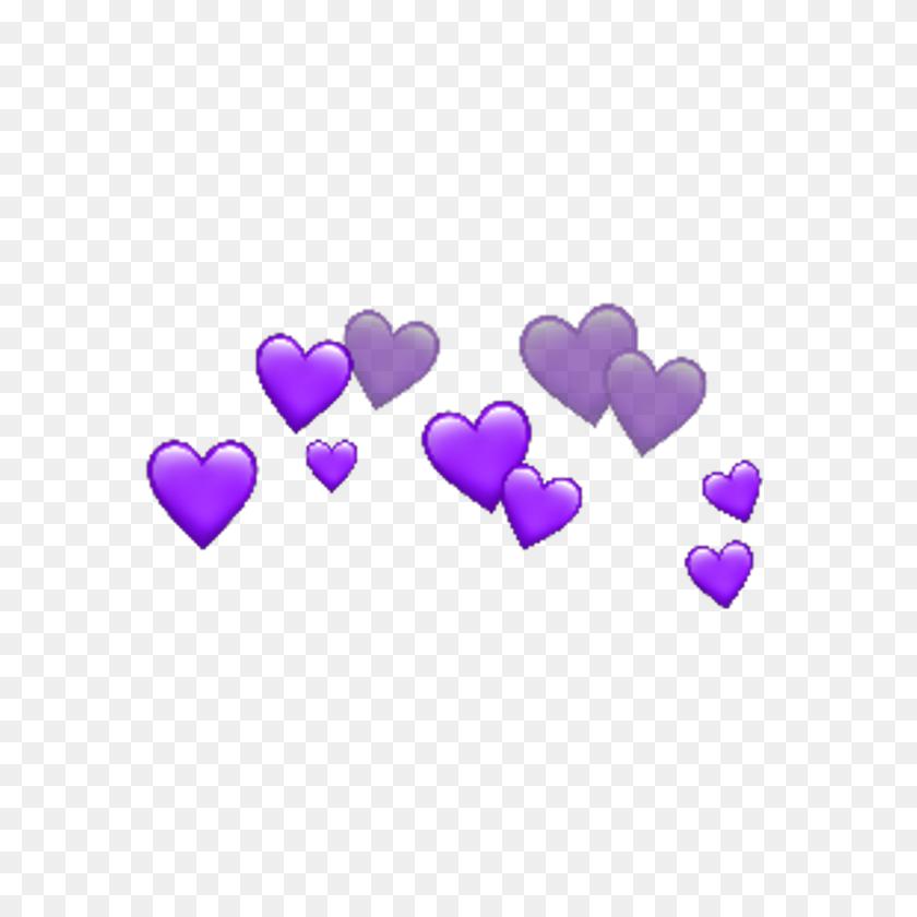 Purple Heart Hearts Purple, Heart And Black - Purple Heart