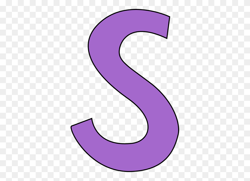 365x550 Purple Letter S Clip Art Image - S Clipart