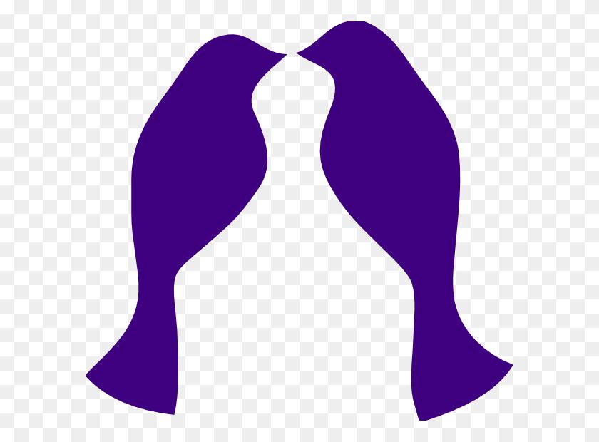 Purple Love Birds Clip Art - Love Birds Clipart