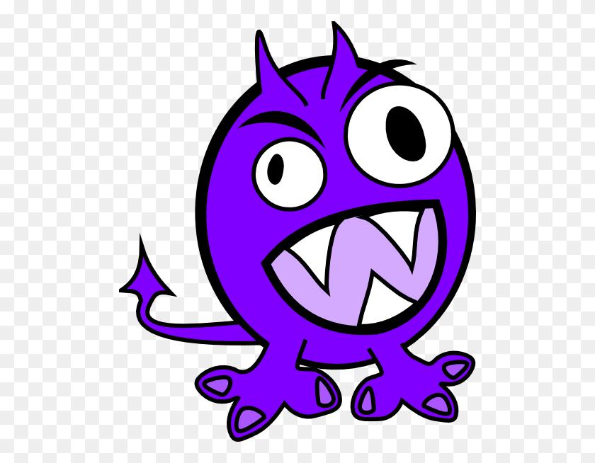 504x594 Purple Monster Clip Art - Monster Mouth Clipart