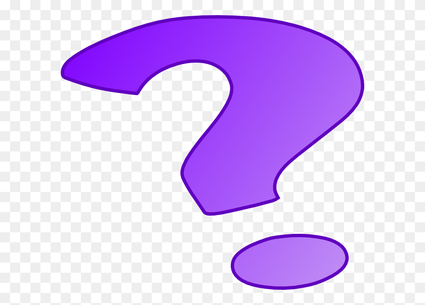 Purple Question Mark Clip Art - Question And Answer Clipart